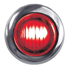red led marker lights dual revolution red green mini button led light clear lens