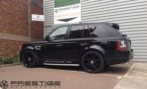 black land rover with black rims range rover vogue alloy wheels fitted to range rover sport