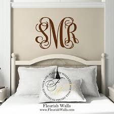 Baby Monogram Wall Decor Initial Monogram Wall Decor Bedroom Wall Decal Baby