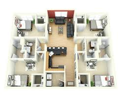 Plans For Houses by 3d Floor Plans Architecture3d For Duplex Houses 2 Bedroom