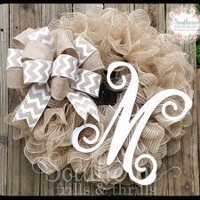 monogram wreath best monogram initials for front door products on wanelo