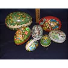 german paper mache easter eggs of german paper mache made easter egg candy containers some