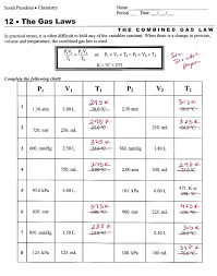 combined gas law worksheet answers ap chemistry page printable