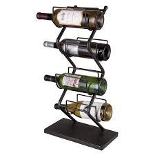 foreside home u0026 garden iron 4 bottle tabletop wine rack u0026 reviews