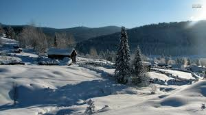 wooden houses on a snowy mountain 498293 walldevil