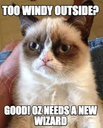 Wizard Of Oz Meme Generator - meme creator too windy outside good oz needs a new wizard meme