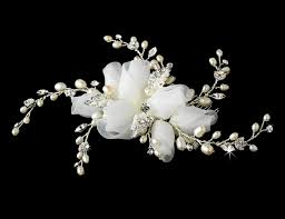 pearl hair comb fabric buds freshwater pearls bridal hair comb
