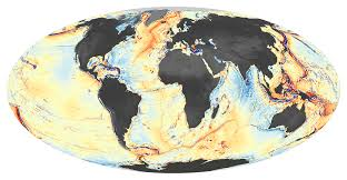 Map Of World Oceans by Seafloor Features Are Revealed By The Gravity Field Image Of The Day