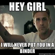 Binder Meme - friday high five binders full of women the wheeler centre