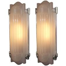 Large Wall Sconce Lighting Large Elegant Art Deco Wall Sconces Home Theater At 1stdibs