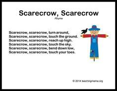 i m a scarecrow song with motions movement to the tune of