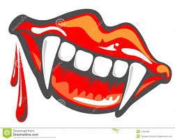 vampire fangs stock illustration image 41502658