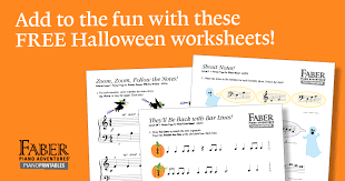 free halloween worksheets faber piano adventures