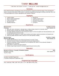 Best Resume Format For Gaps In Employment by Best Web Developer Resume Example Livecareer