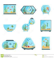 aquarium tanks set different types of aquariums with plants and