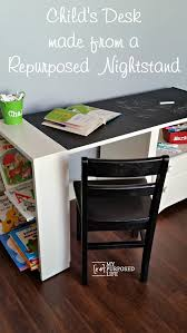 Restoration Hardware Kids Desk by Kid U0027s Chalkboard Desk Using Repurposed Nightstand My Repurposed