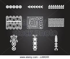 american indians and aztec symbolic ornaments stock vector