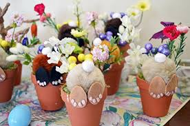 Easter Bunny Decoration Table by Amazon Com Easter Bunny Flower Pot Table Decoration Easter
