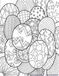 easter eggs doodle coloring page easter spring pinterest