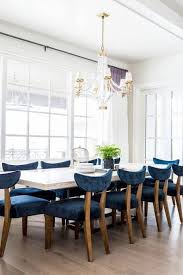 Velvet Dining Room Chairs Blue Dining Room Chairs 1 White Wood Dining Table With Blue
