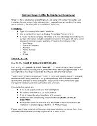 Sle School Counselor Cover Letter letter of counseling exle with additionalol counselor cover