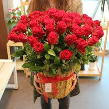 basket delivery standing basket 55 premium roses flower delivery south