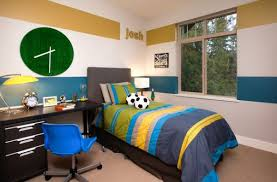 Small Boys Bedroom - bedrooms grey bedroom with bold horizontal stripes wall and