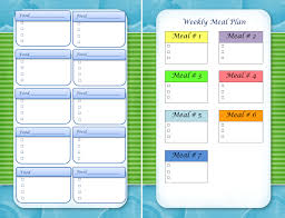 menu planners templates meal planning in the woods near skyline drive menu planning template