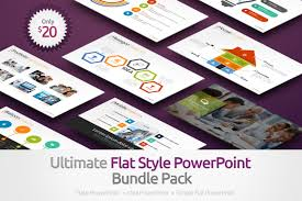 ultimate flat style powerpoint template bundle pack on behance