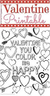 kids valentine printable coloring