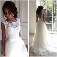 Backless White Lace Beach Wedding Dresses Sheath Tulle Corset