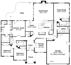 4 bedroom ranch floor plans house plan 59431 at familyhomeplans