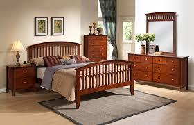 6 pc merlot finish mission style queen bedroom set orange county