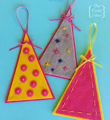 the funky felter free felt ornament pattern craft tutorial