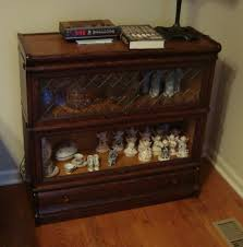 Globe Wernicke Bookcase 299 Macey Two Stack Bookcase Quartersawn Oak With Leaded Glass Top