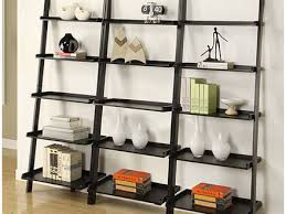 34 leaning ladder 5 shelf bookcase mainstays leaning ladder 5
