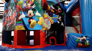 mickey mouse clubhouse bounce house mickey mouse 5in1 bounce house combo rental new orleans