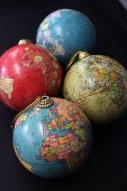 world globe tree ornaments globes globe and set of