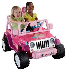 pink jeep lifted power wheels barbie jammin u0027 jeep wrangler 12 volt battery powered