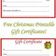 downloadable coupon voucher template for christmas with cute