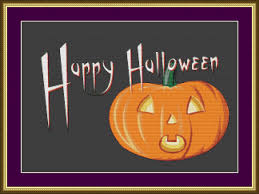 halloween personal checks happy halloween counted cross stitch pattern from