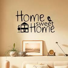 sweet home decor rustic home decor home sweet home sign rustic home sweet home with house and two bird removable vinyl decor stickers living room bedroom instrumen