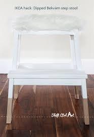 ikea step stool rroom me ikea hack dipped bekväm step stool with tejn faux sheep