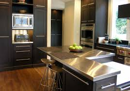 countertop ideas for kitchen sleek stainless steel countertop ideas guide home remodeling