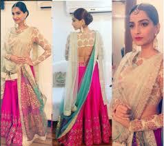 Different Ways Of Draping Dupatta On Lehenga How To Wear Sonam Kapoor Double Pallu Saree 4 Double Drape