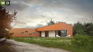 Single Story Flat Roof House Designs Single Storey Modern House With A Flat Roof And A Shed Stará