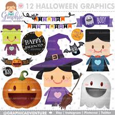 halloween clipart halloween graphics commercial use kawaii