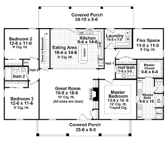 colonial style house plan 3 beds 2 5 baths 1951 sq ft plan 21