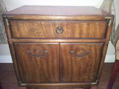 sold vintage pair of drexel campaign nightstands in midlothian va