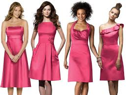 same color different styles red bridesmaids dresses being a